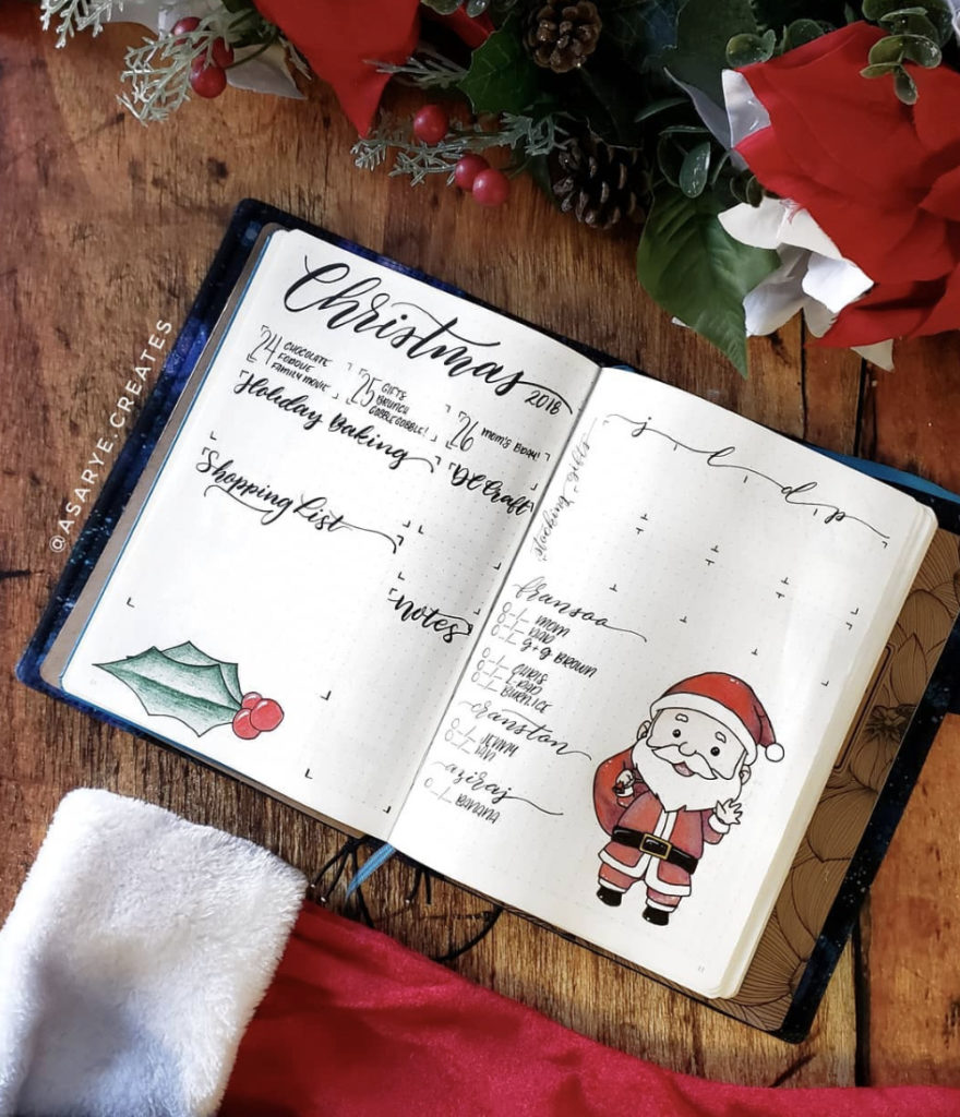 December bullet journal weekly spreads that you'll want to use