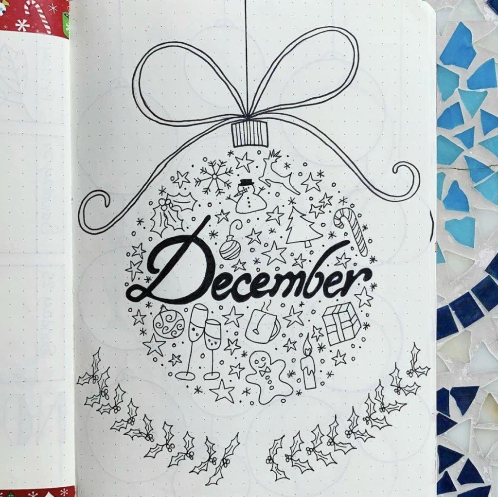bullet journal december cover ideas 12