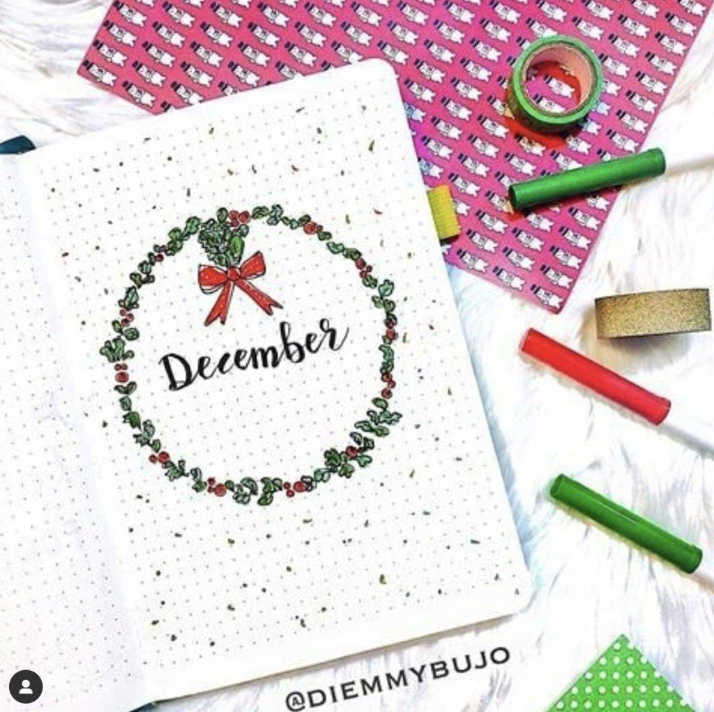 bullet journal december cover ideas 16