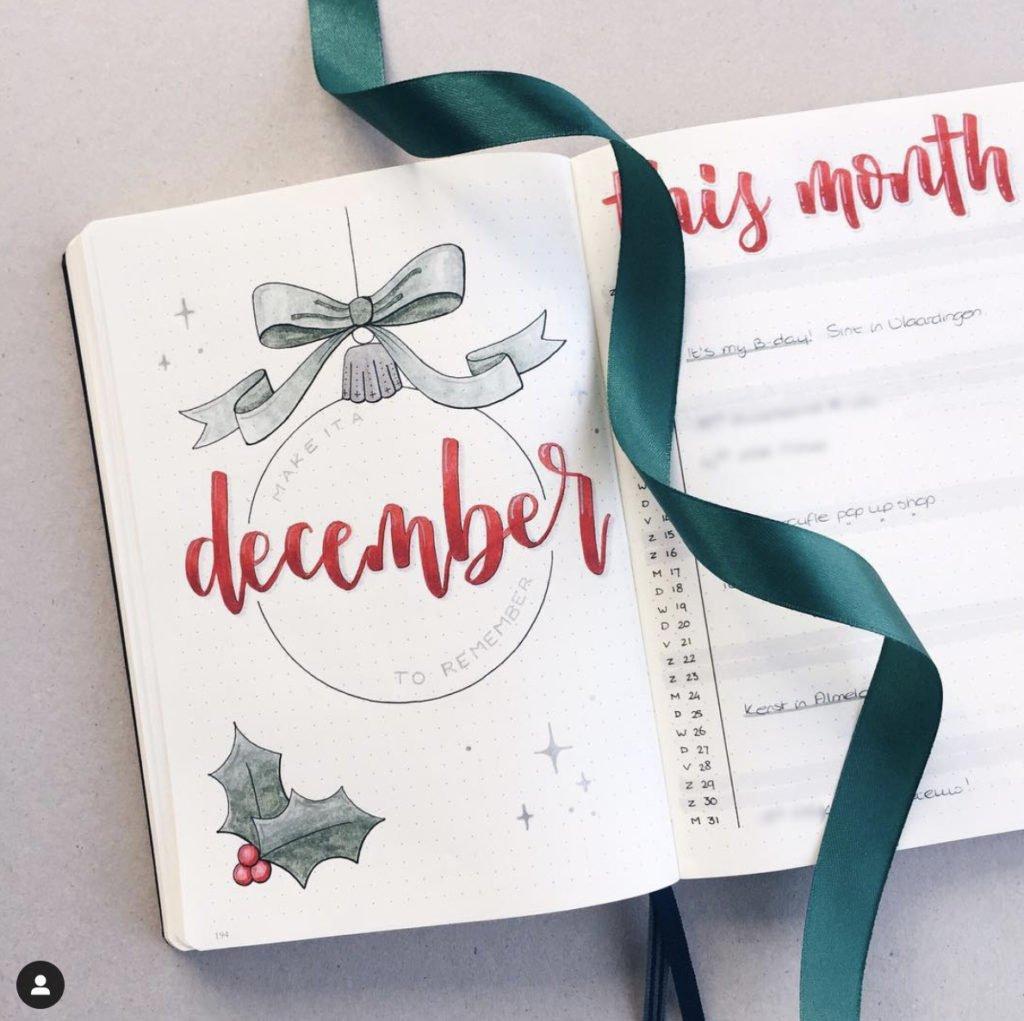bullet journal december cover ideas 2