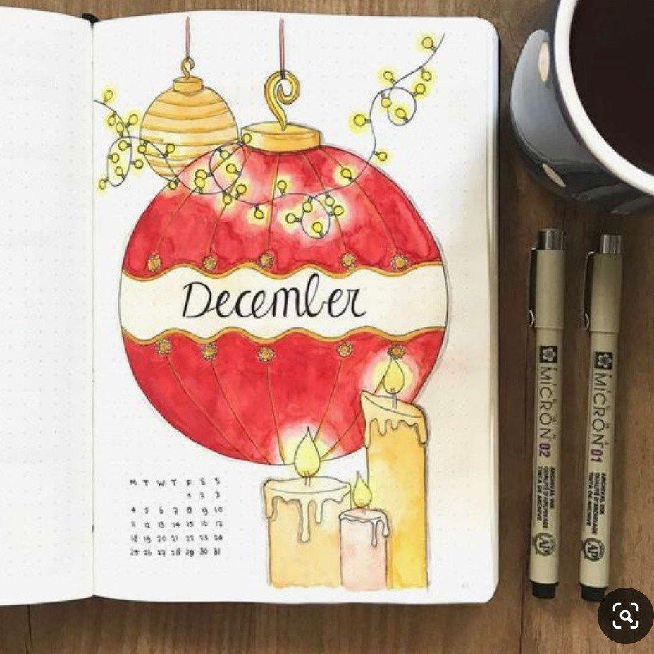 bullet journal december cover ideas 3
