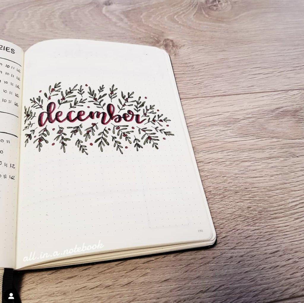 bullet journal december cover ideas 8