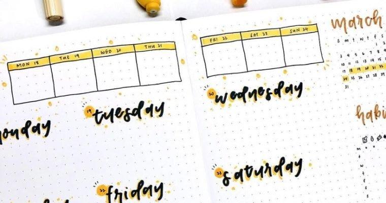 16 Bullet Journal Weekly Spread Ideas for December