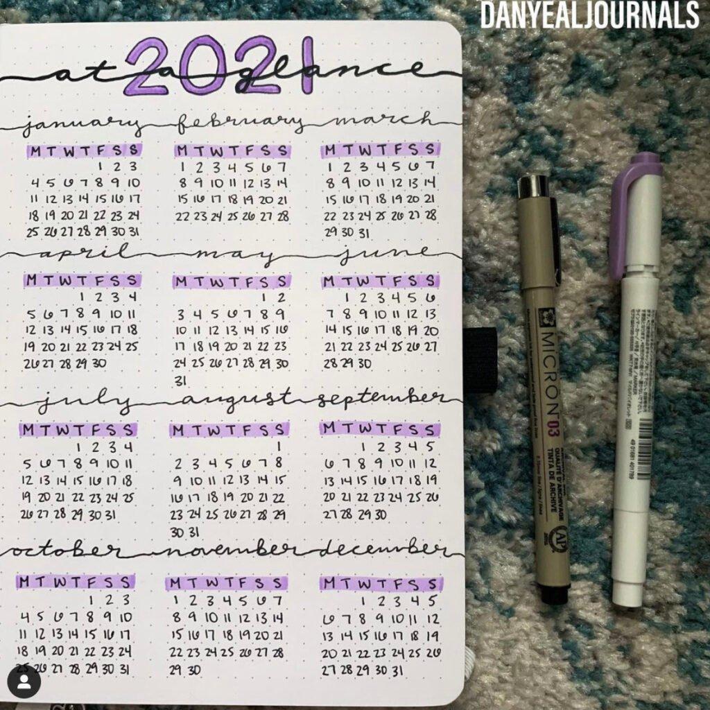 2021-january-bullet-journal