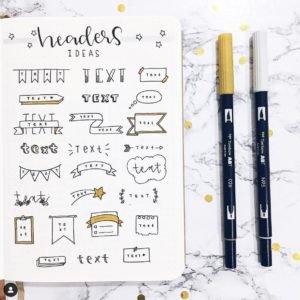 January bullet journal doodles