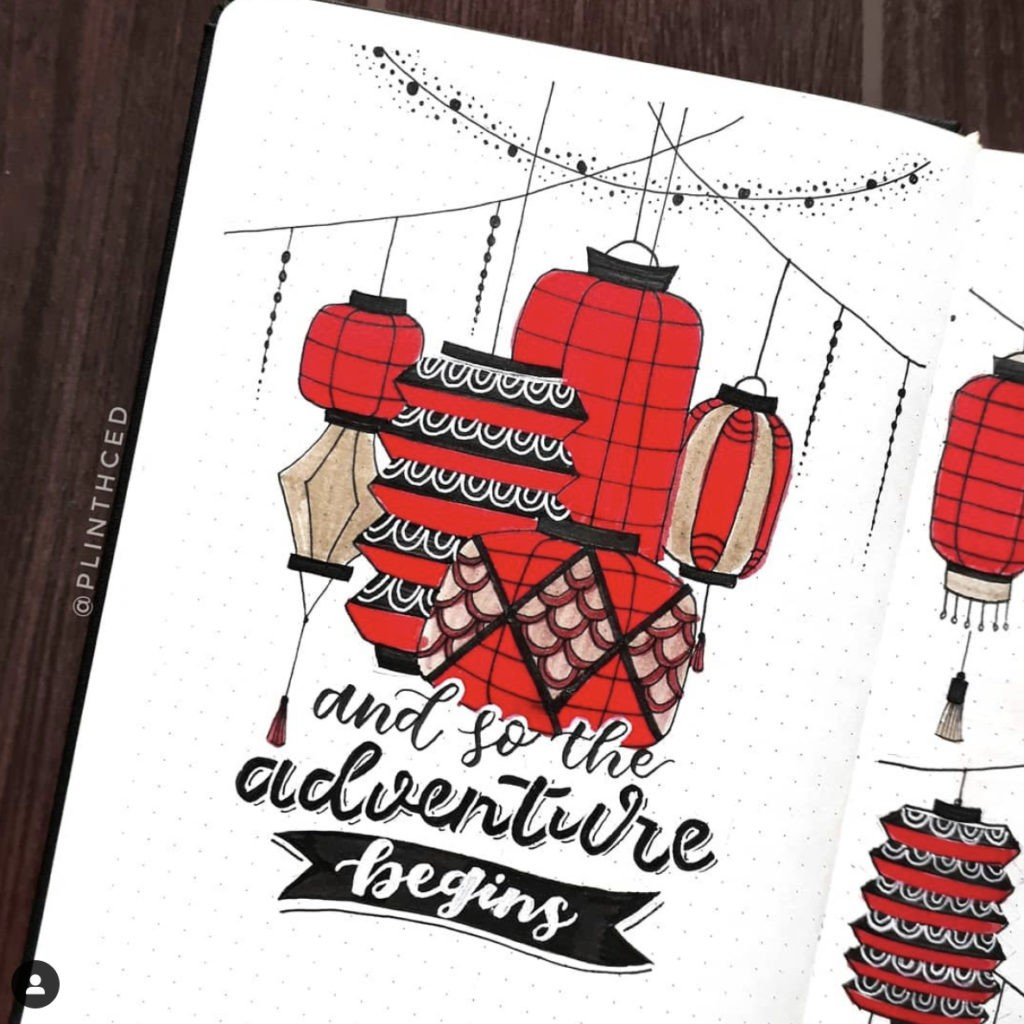 bullet journal ideas quotes red lantern