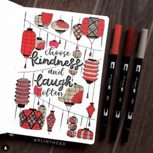 bullet journal quotes red lantern