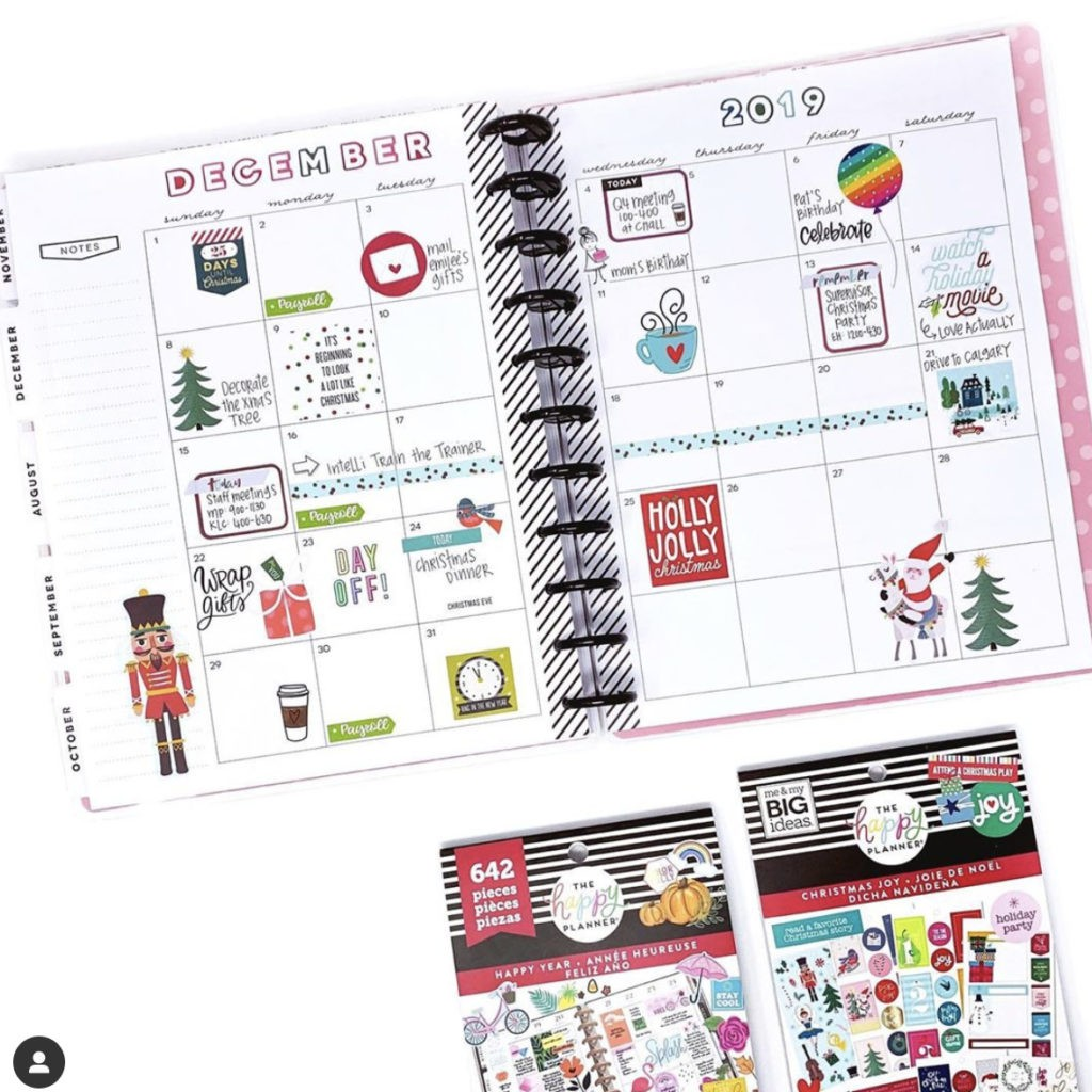 16 december bullet journal monthly spread ideas