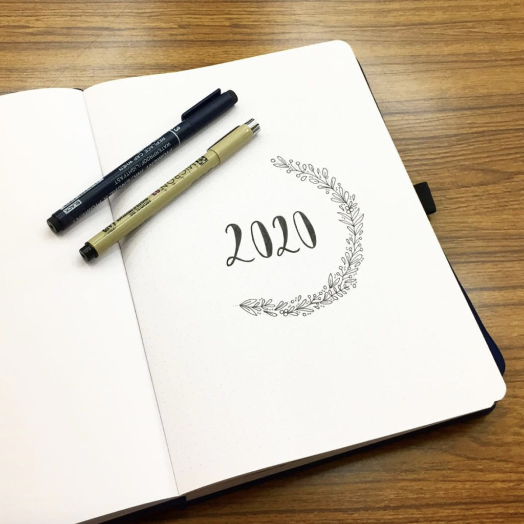 bullet journal minimalist 2020 cover