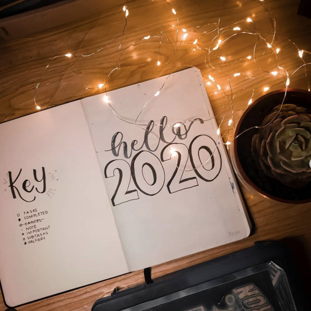 bullet journal minimalist 2020