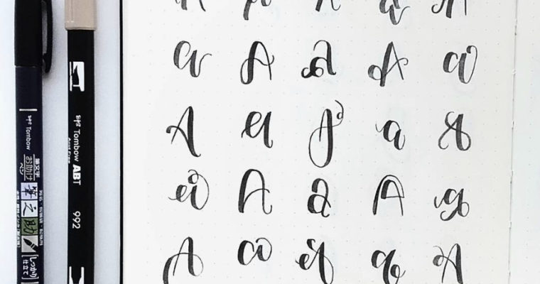30 Easy and Beautiful Ways to Lettering A to Z