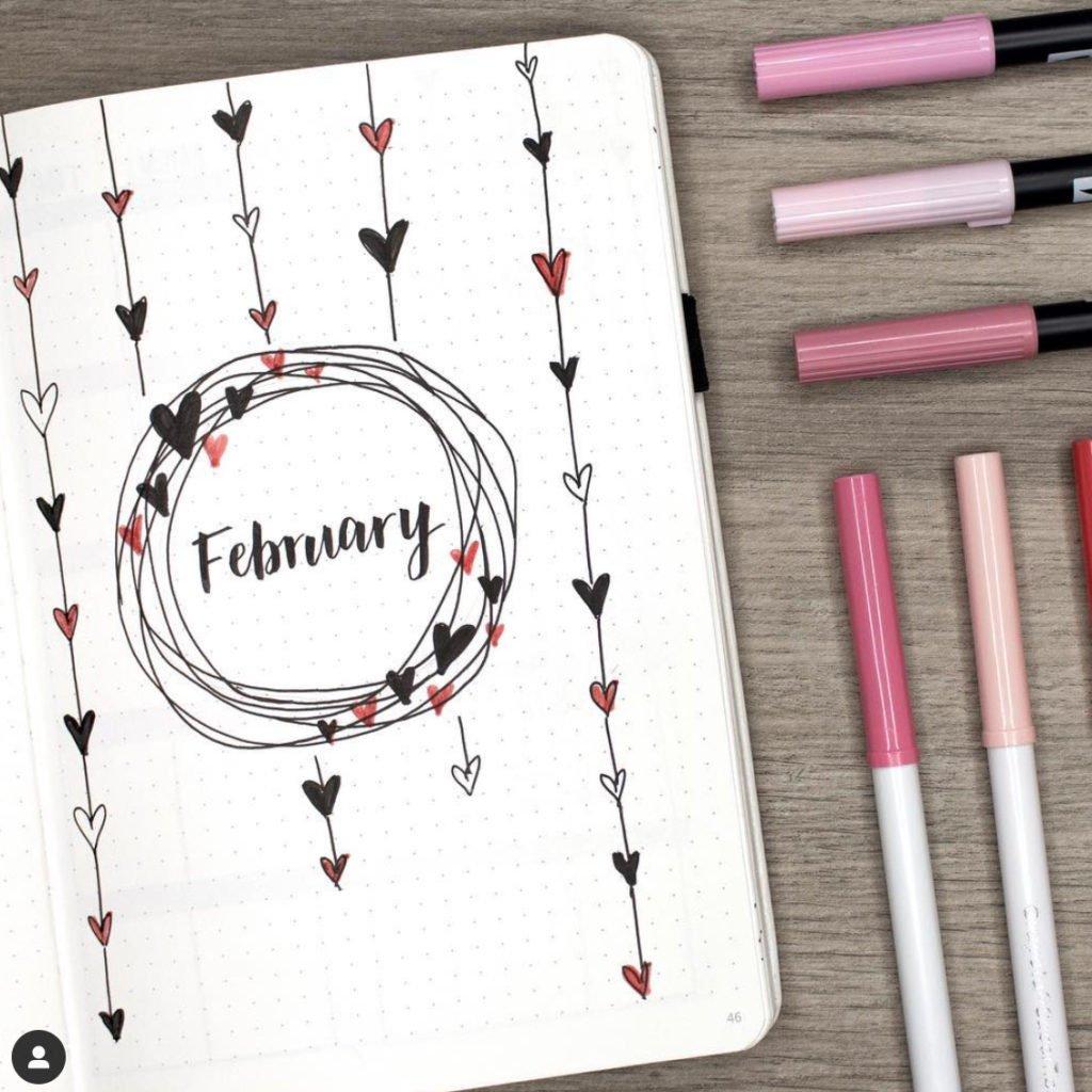 bullet-journal-hearts-february
