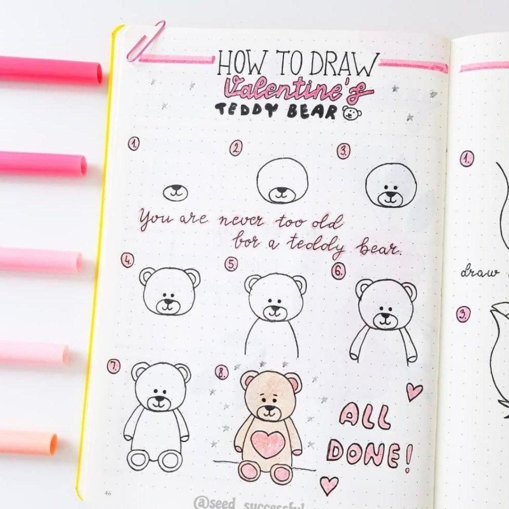 bullet-journal-pink-doodles
