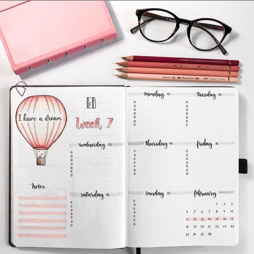 bullet-journal-pink-theme