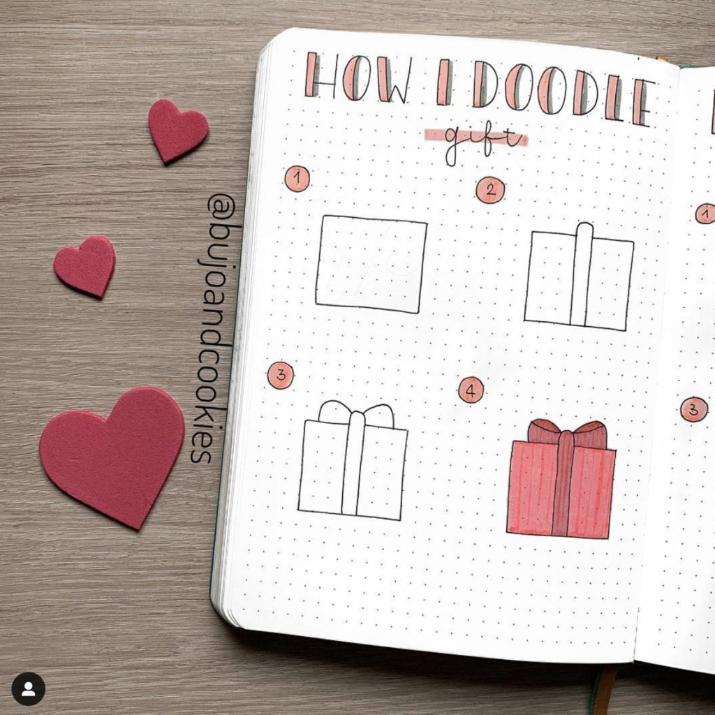 25+ Best February Bullet Journal Doodle Ideas