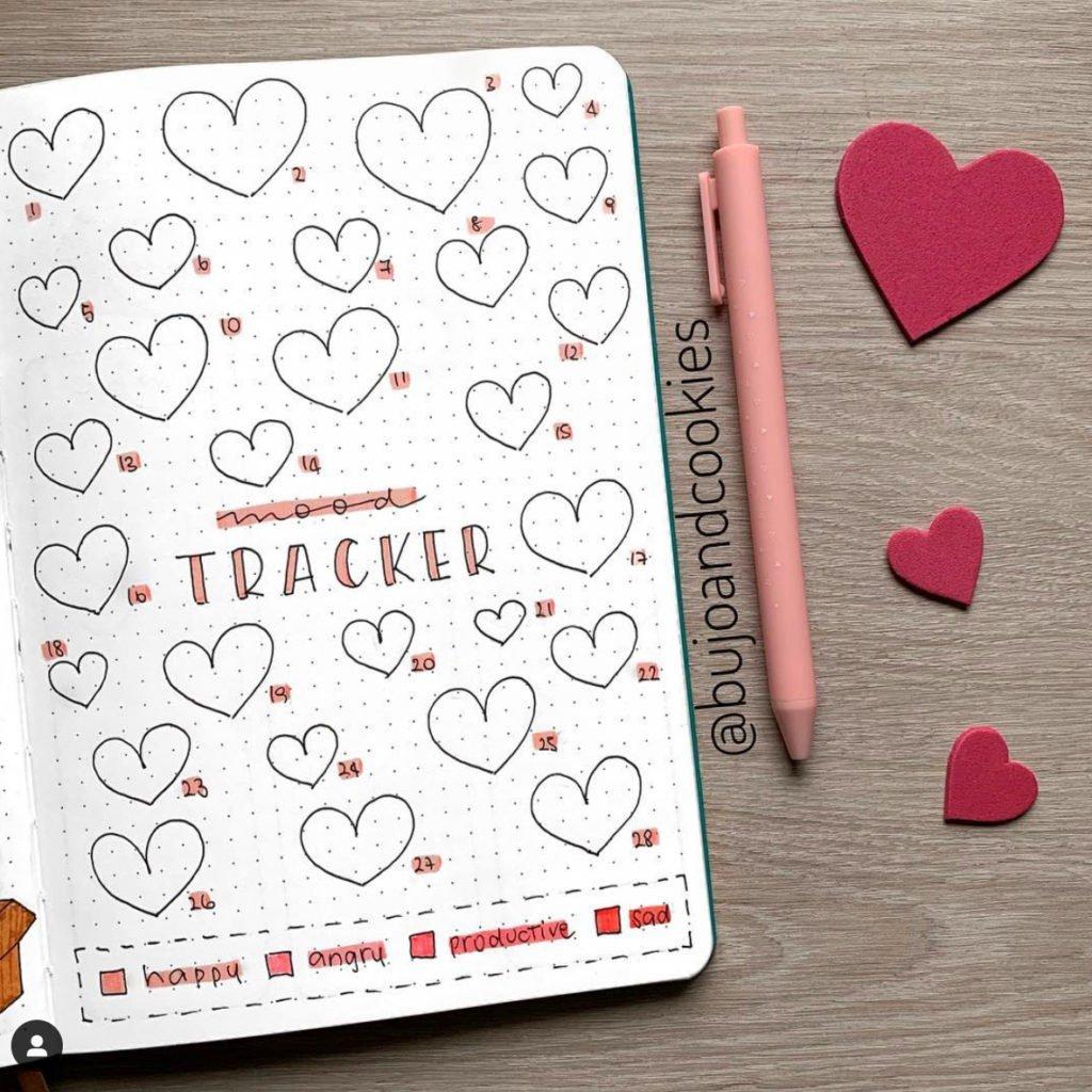 25+ Best February Bullet Journal Mood Tracker