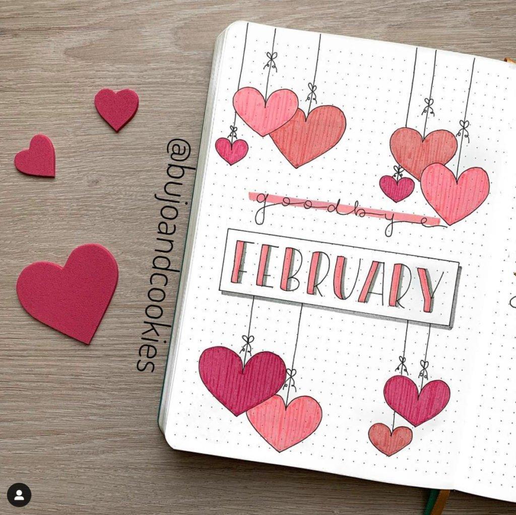 Bullet Journal Valentines day