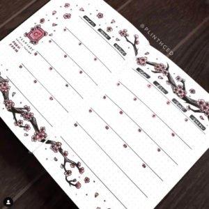 bullet journal monthy spread