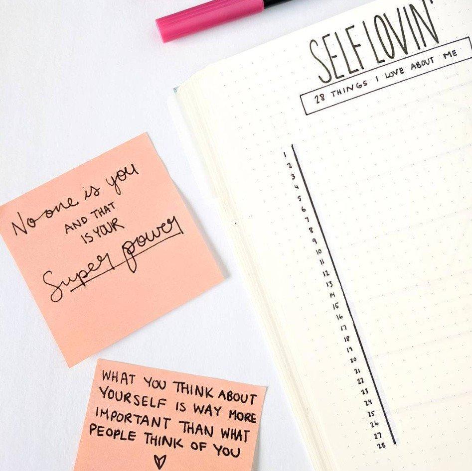 bullet journal ideas for self care