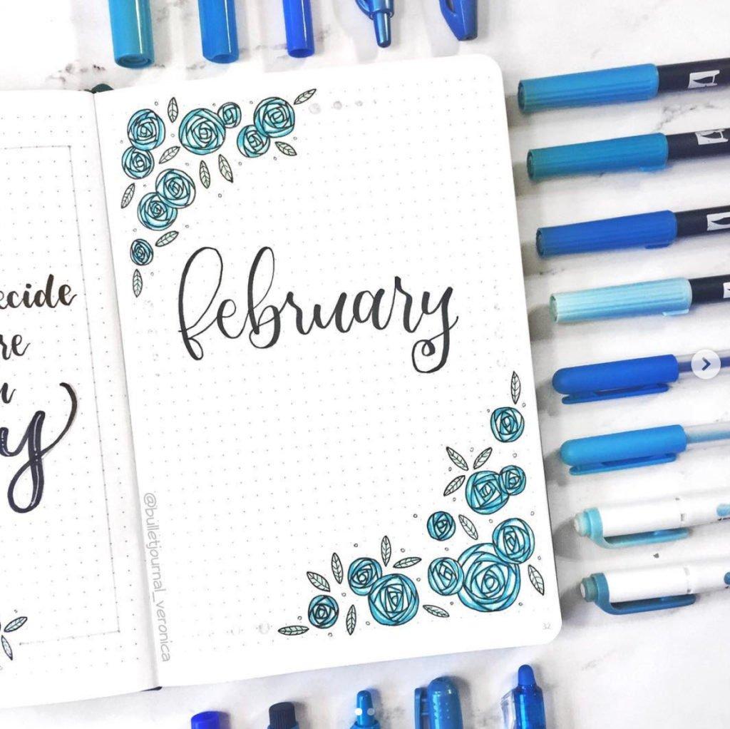 February Bullet Journal Cover Ideas