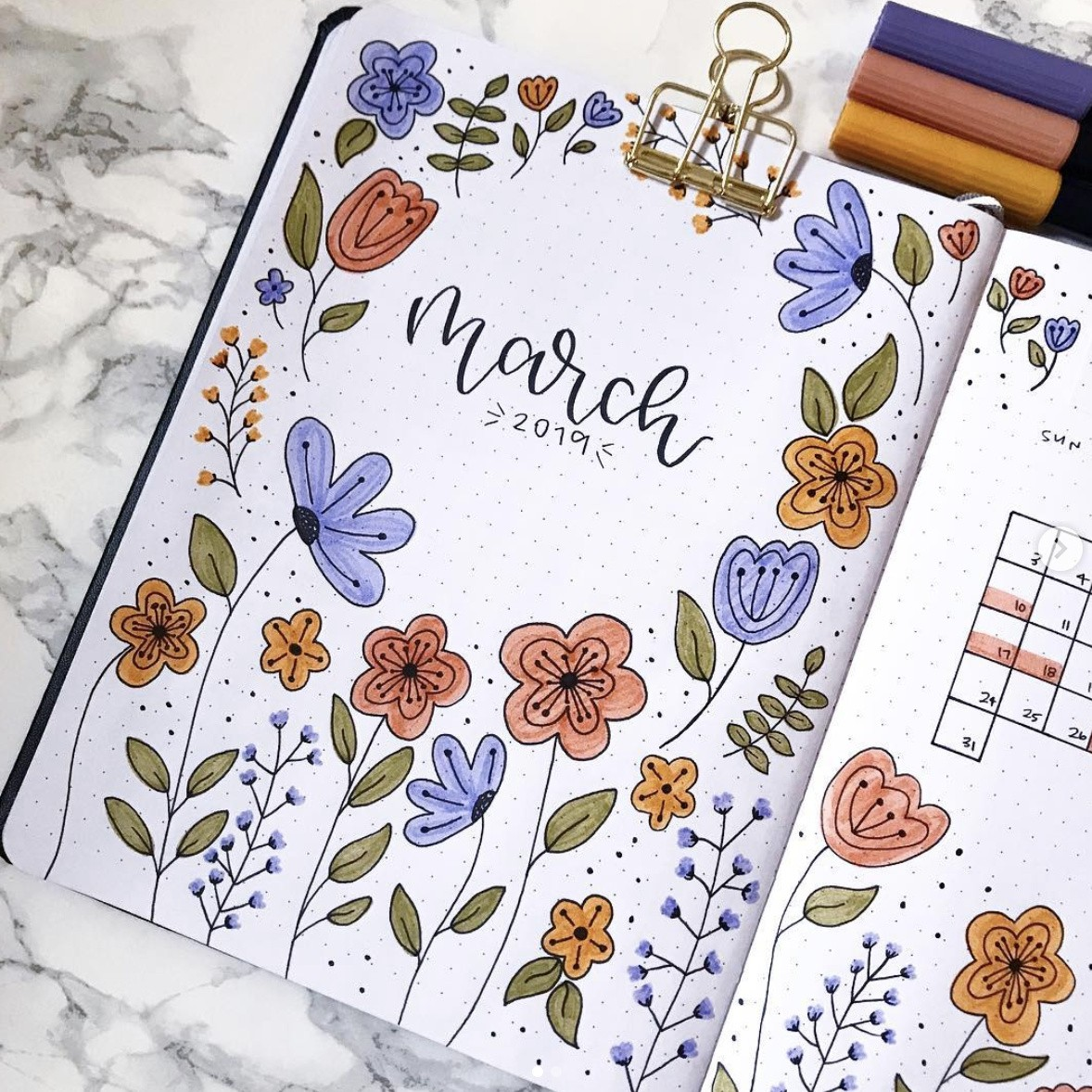 Bullet Journal Flower Theme that You will Love