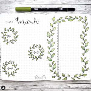 march monthly bullet journal