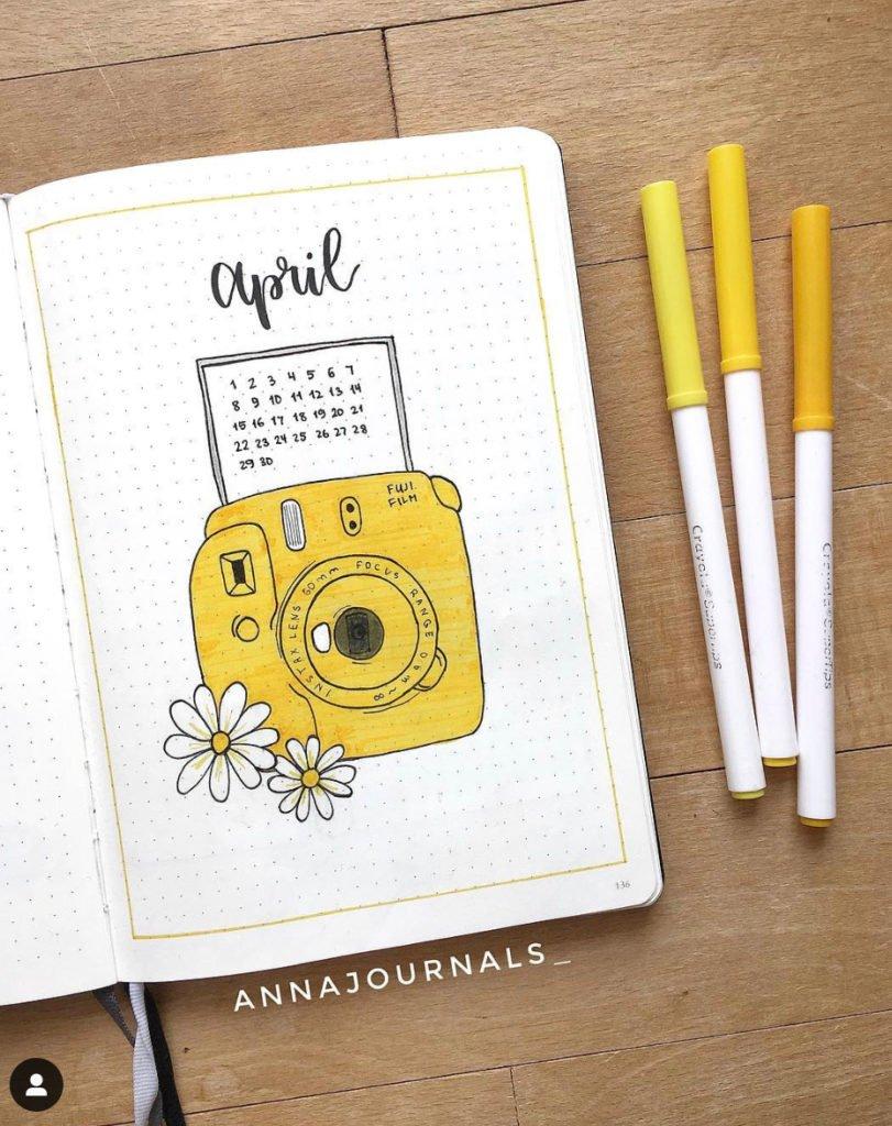 april bullet journal example
