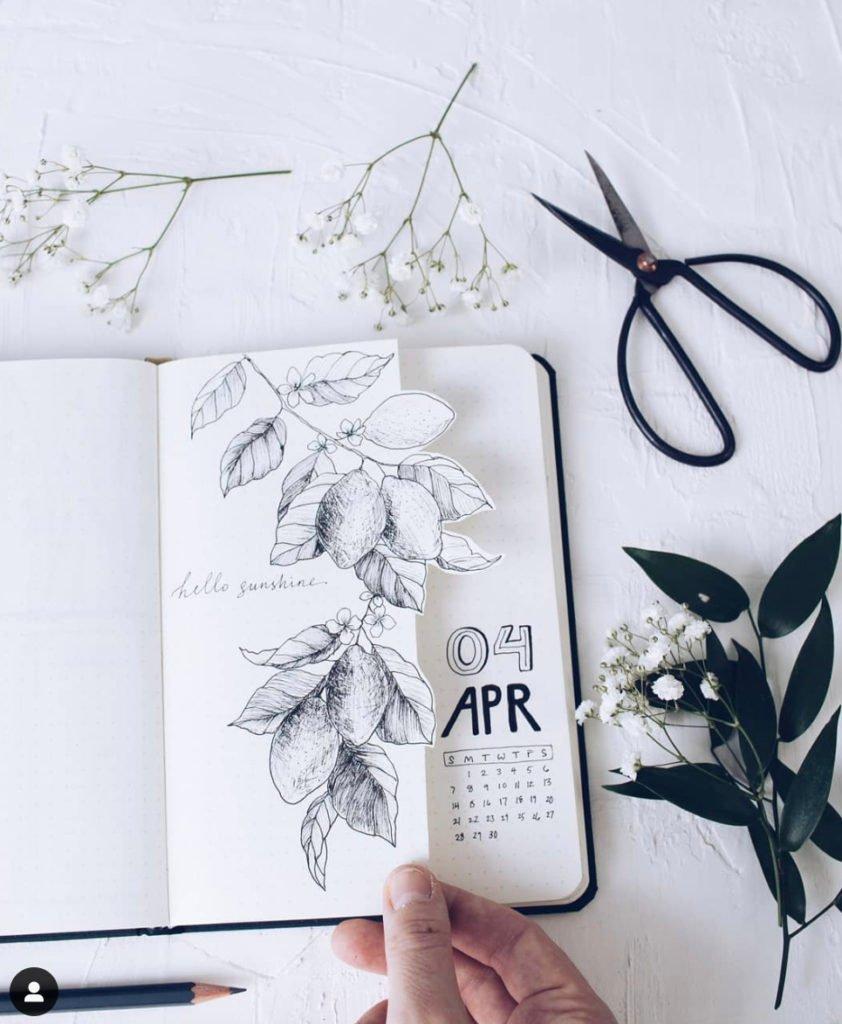 april bullet journal ideas