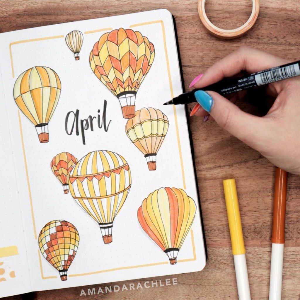 20 Best April bullet journal covers