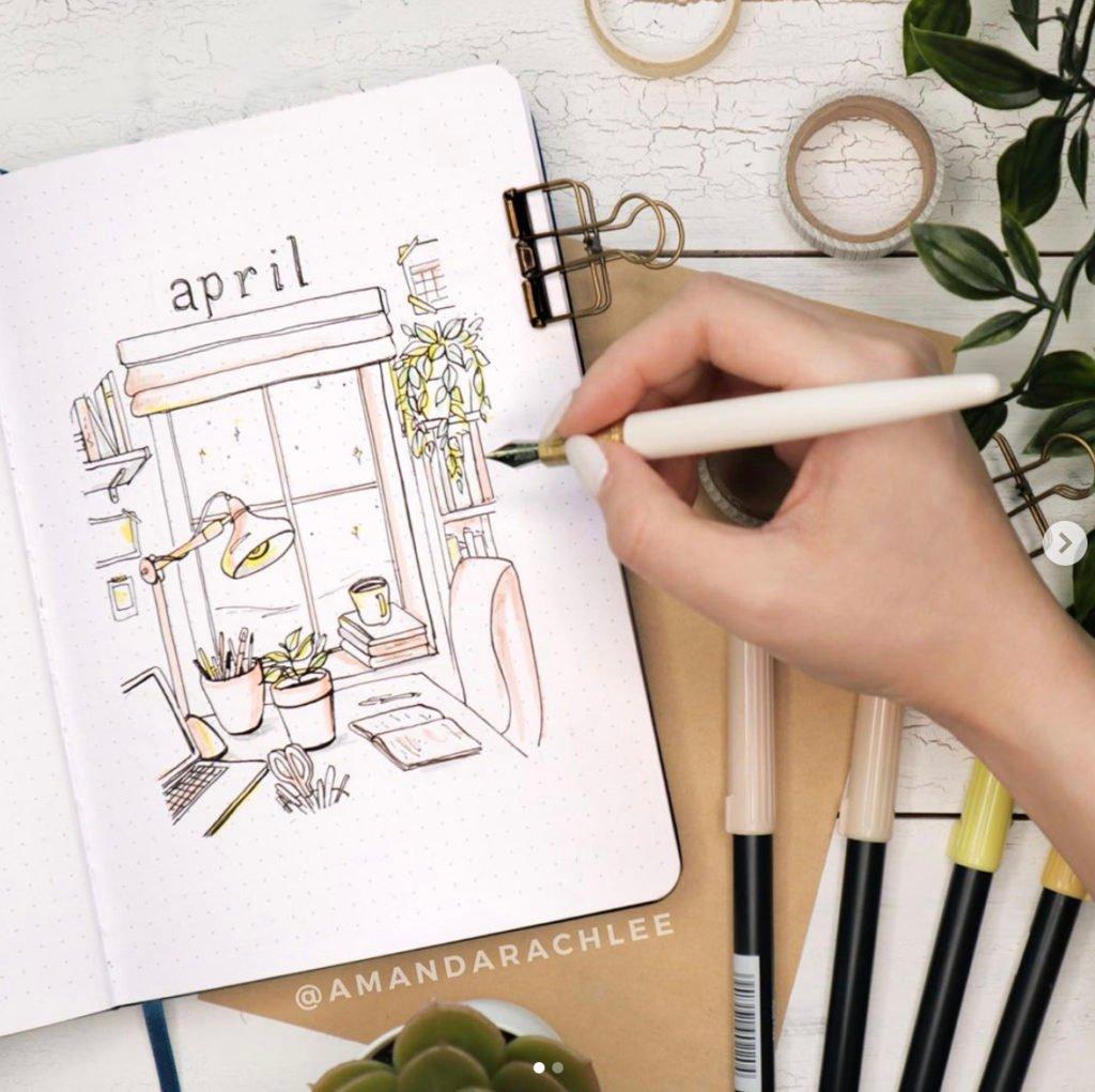 april bullet journal