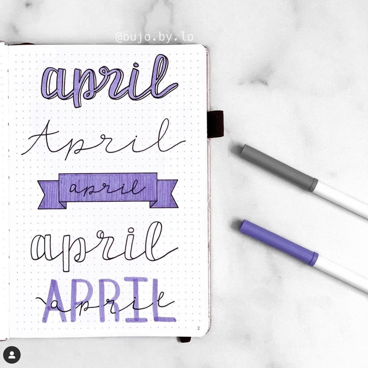 Best Bullet Journal Fonts and Headers for Every Month