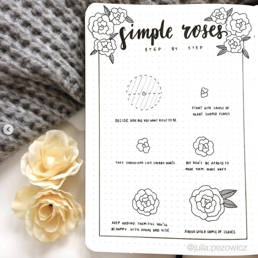 how to draw a rose flower