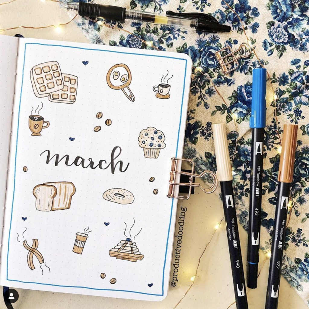 bullet journal cover page ideas