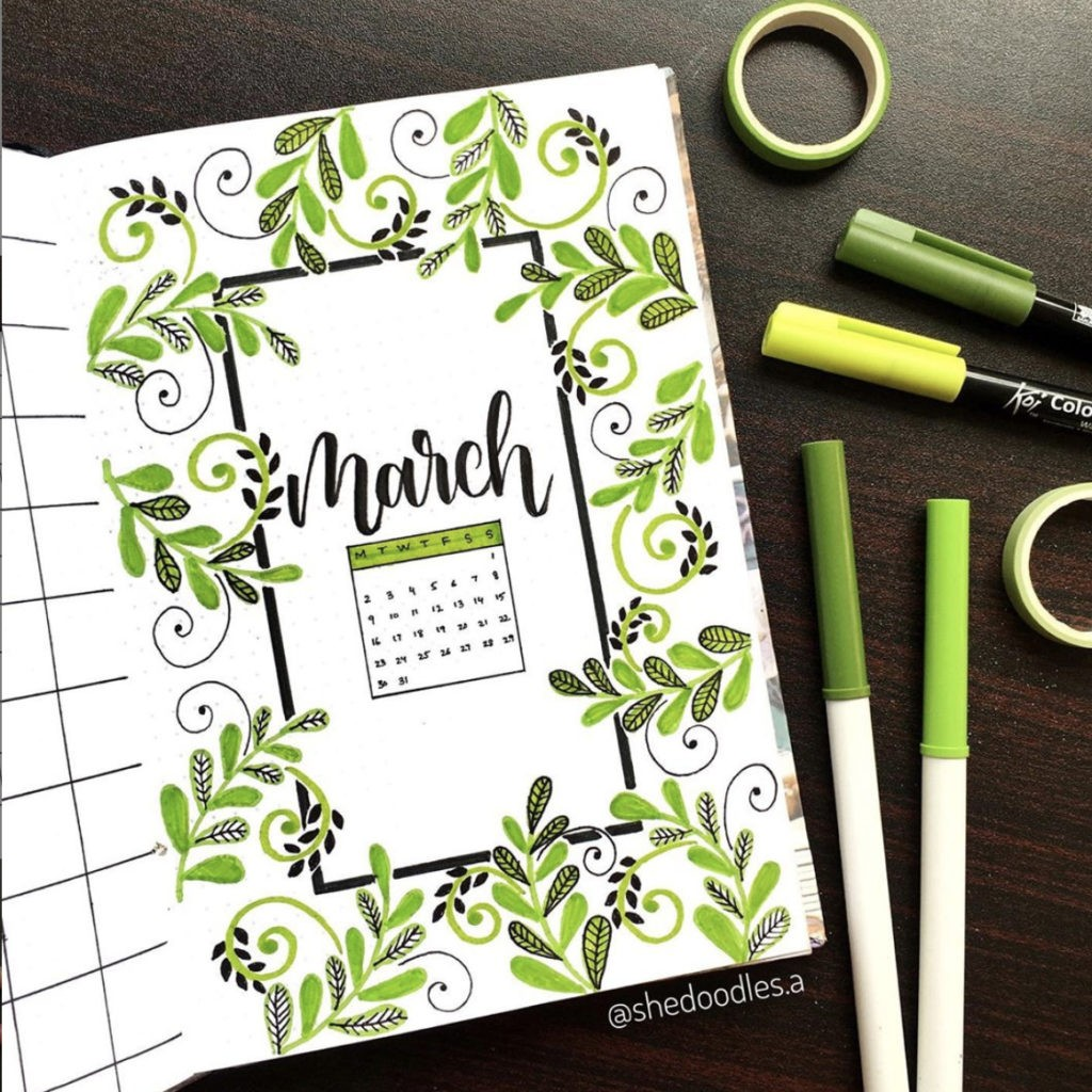 bullet journal front cover ideas