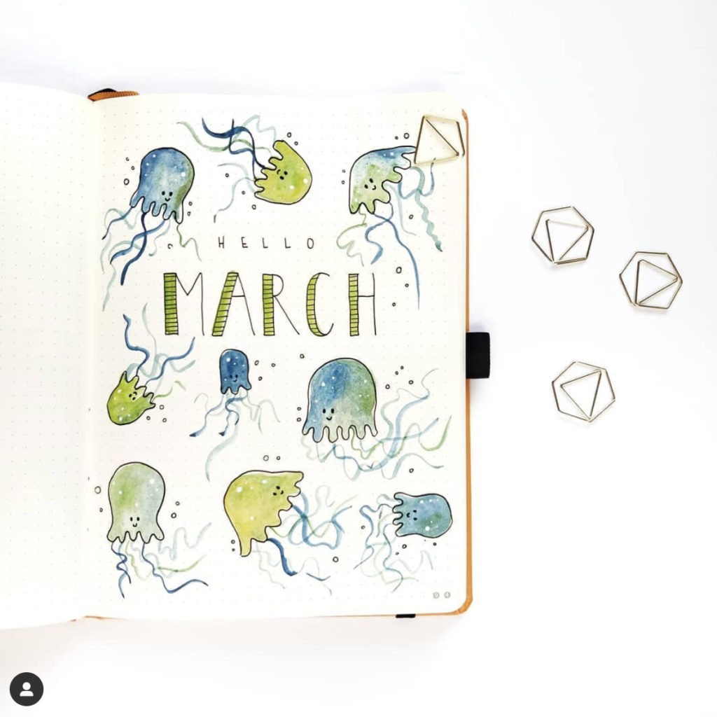bullet journal monthly cover