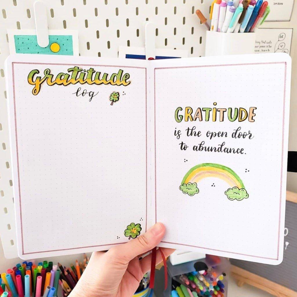 gratitude bullet journal