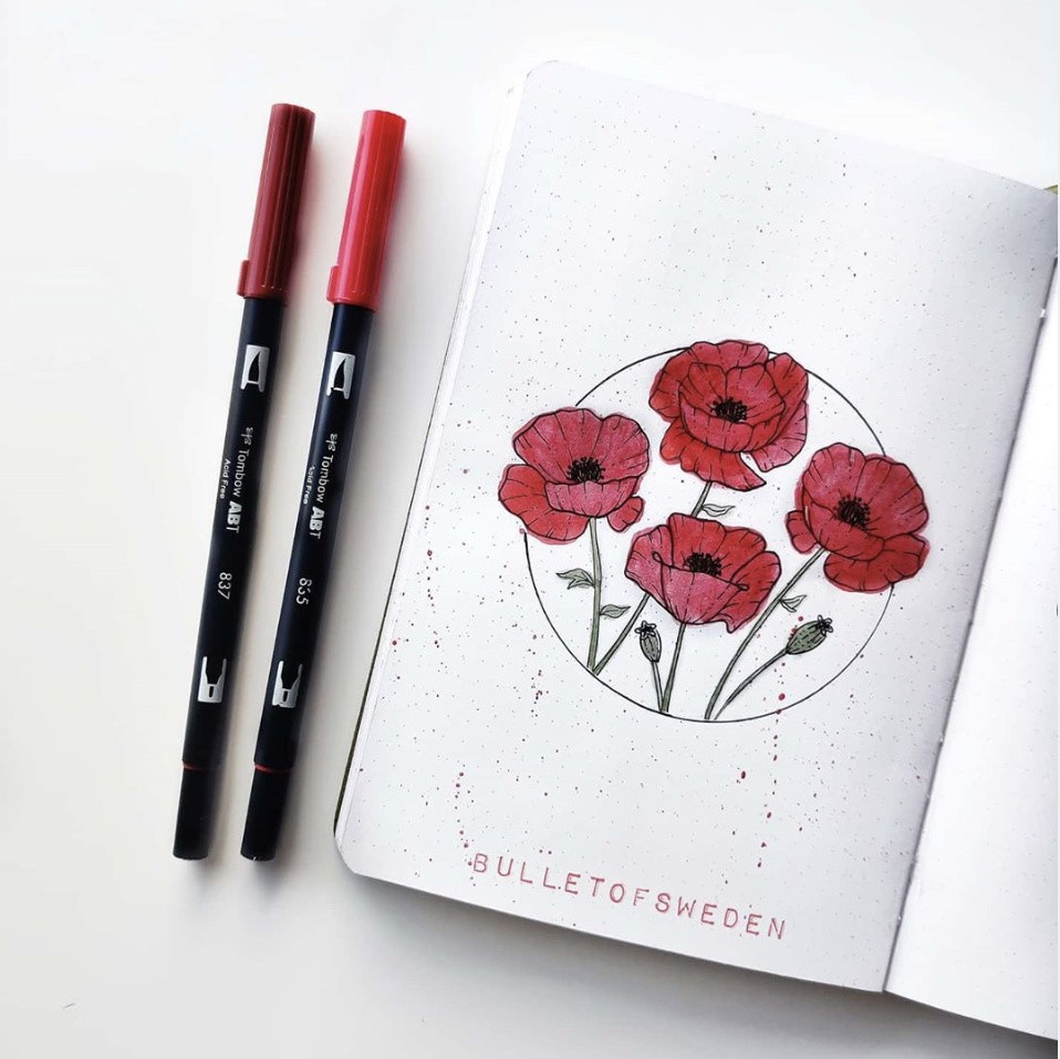 bullet journal flower pages ideas