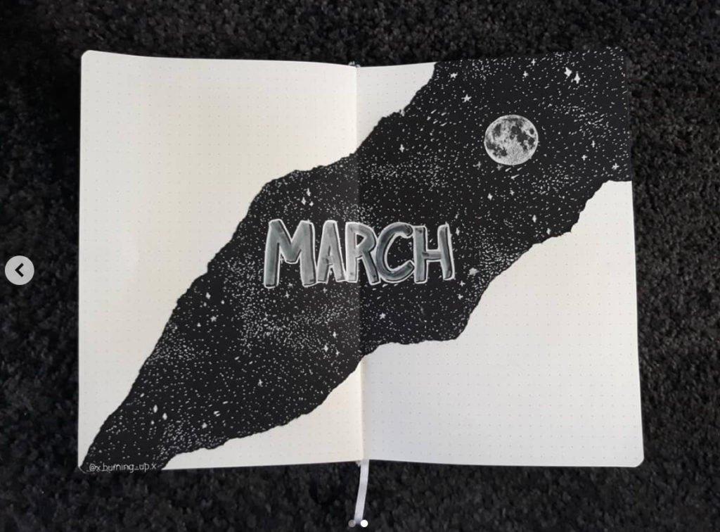 bullet journal black moon