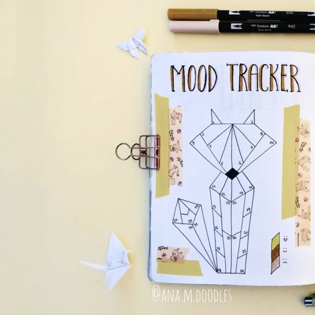 mood trackers bullet journal