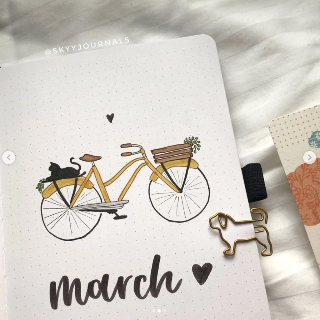 bullet journal ideas bicycle