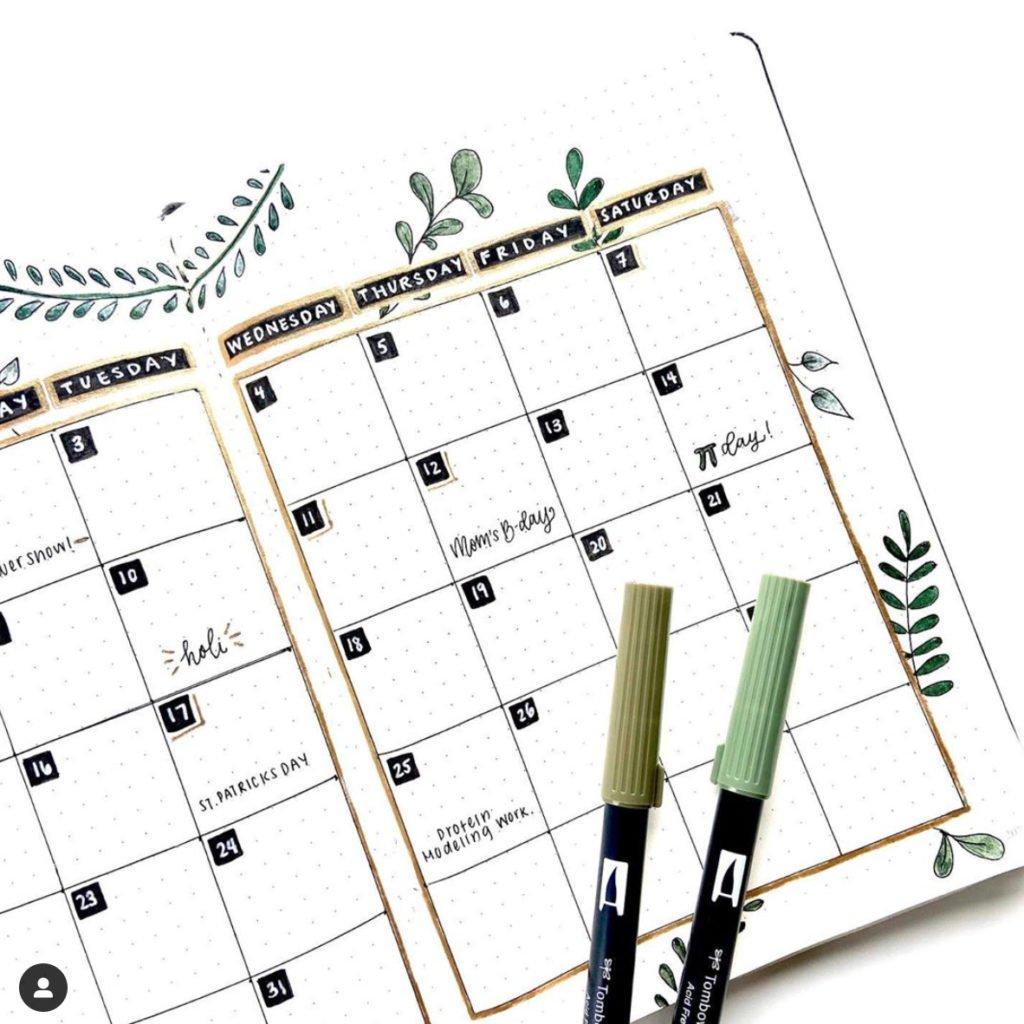 month bullet journal