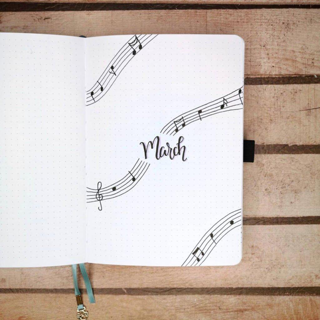 bullet journal music