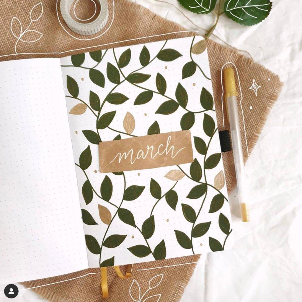 bullet journal leaves