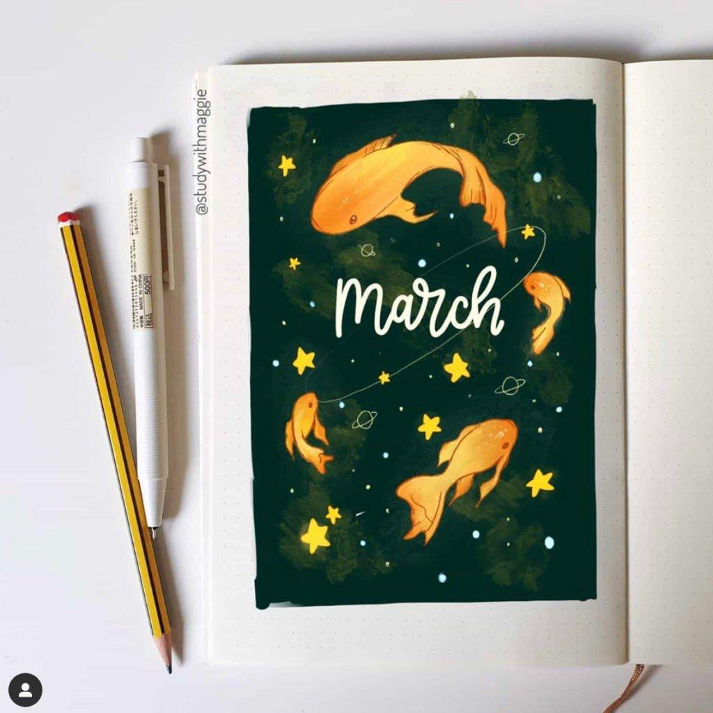 march bullet journal
