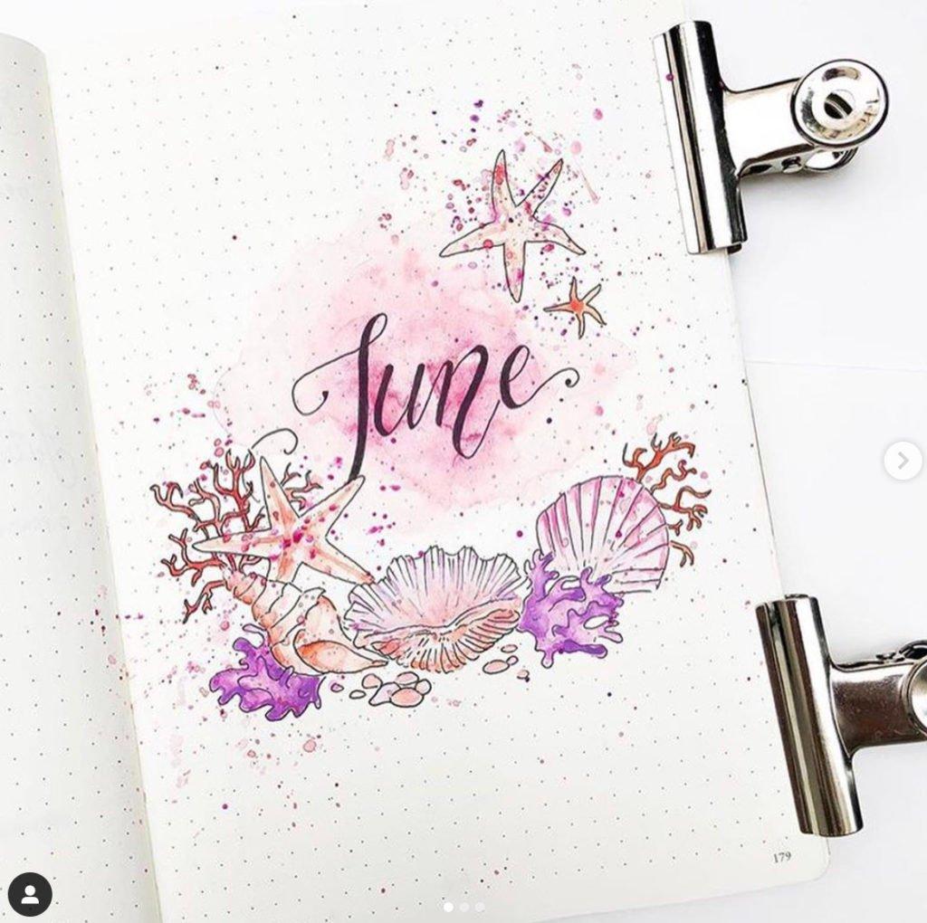 bullet journal ideas for june