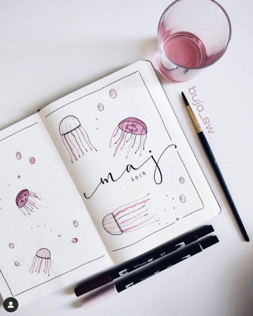 jellyfish bullet journal