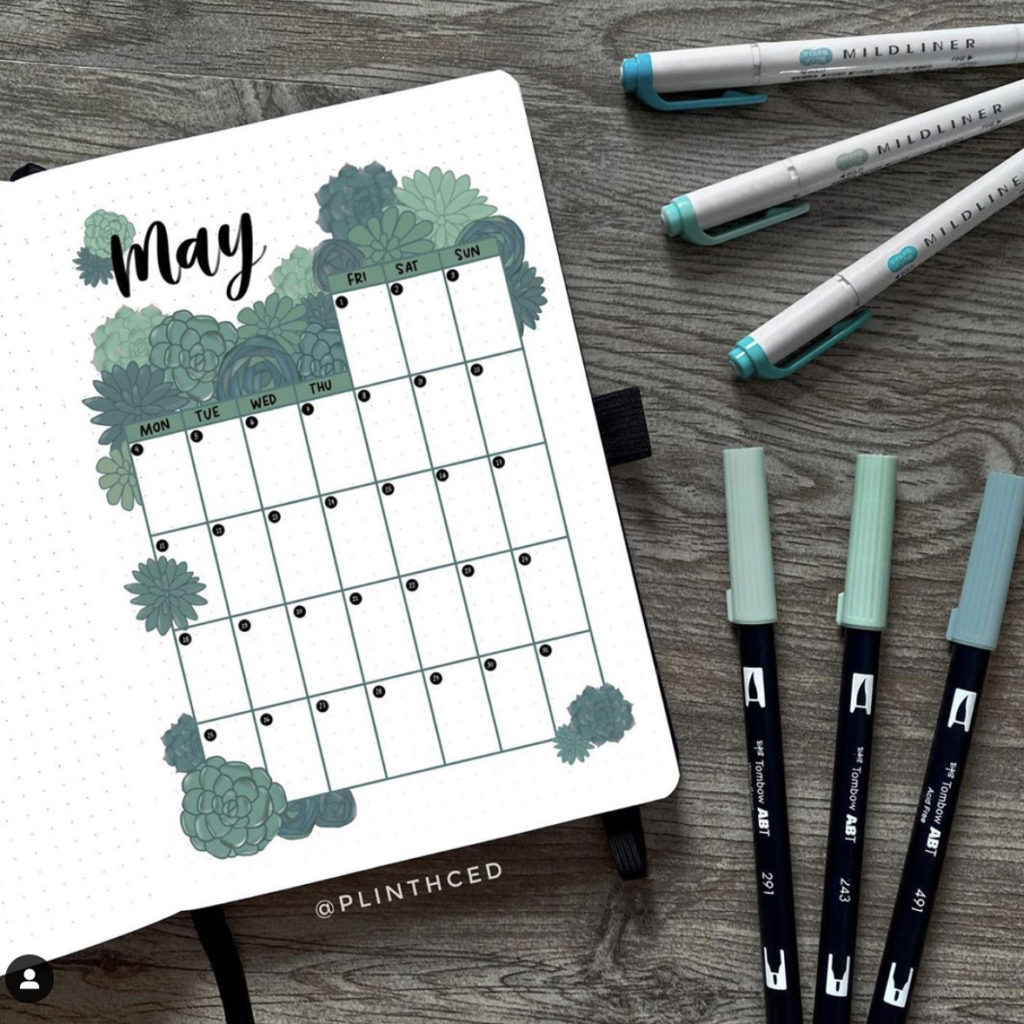 may monthly spread
