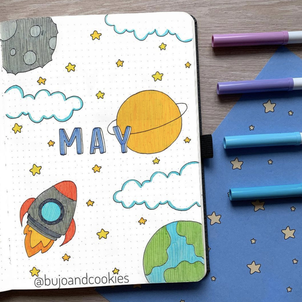 space bullet journal cover