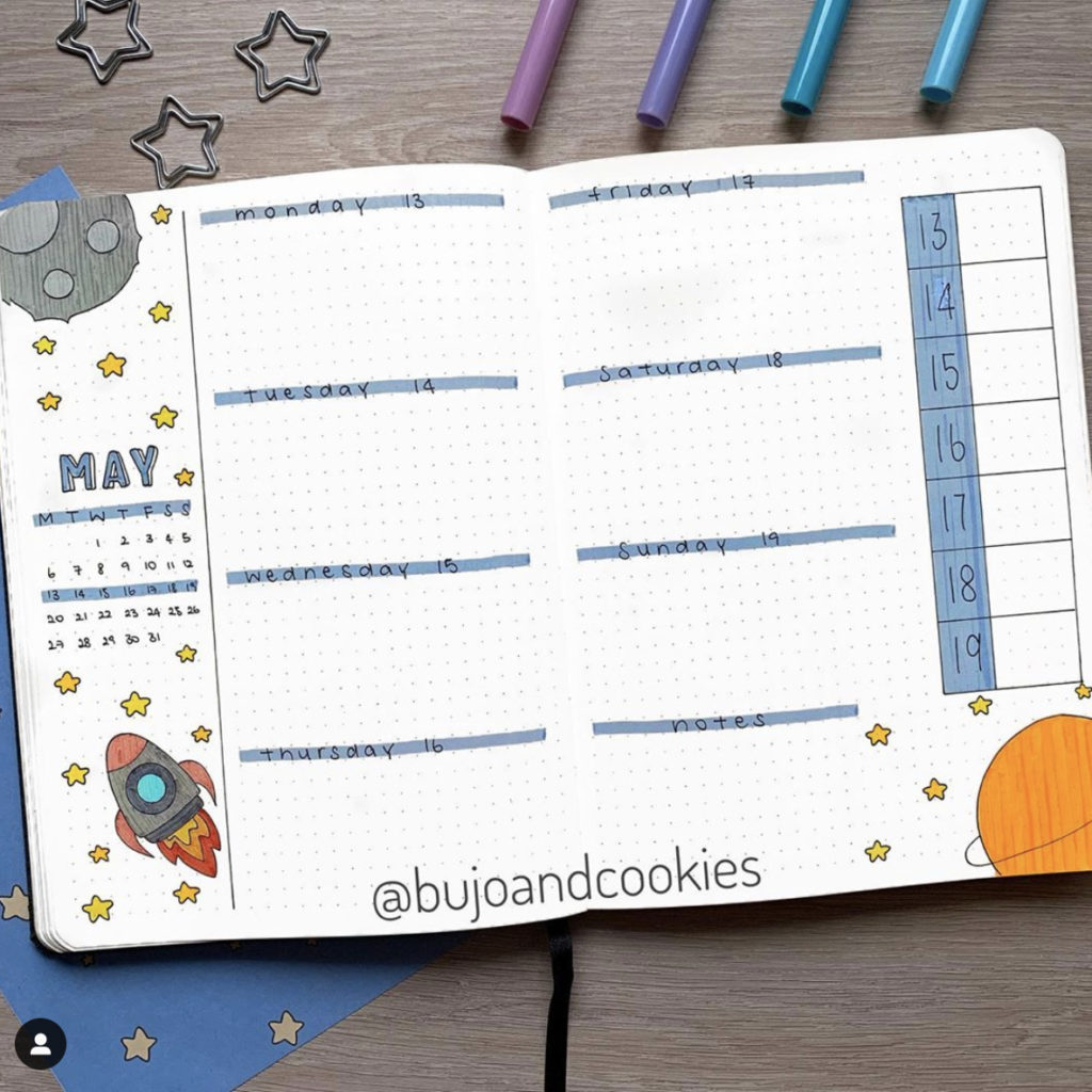 bullet journal weekly cover