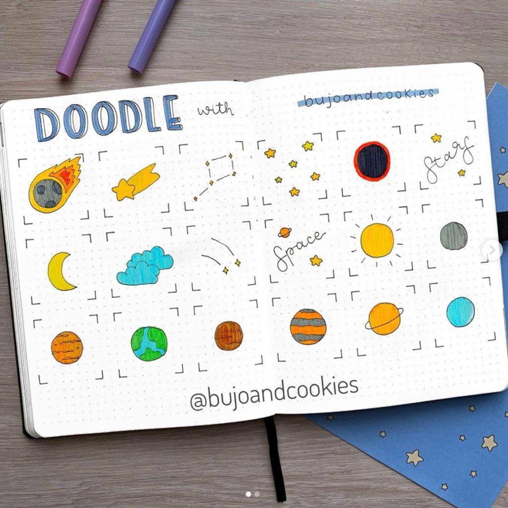 bullet journal doodles